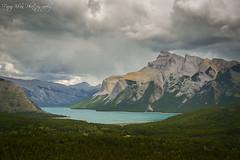 Banff National Park (fenomatik) Tags: road blue sky snow canada mountains green water clouds waterfall nationalpark lakes alberta banff
