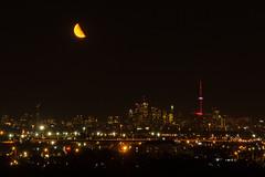 Midnight Toronto Skyline August 7, 2015 (Dan Armishaw) Tags: moon toronto tower cn cntower torontoskyline
