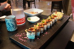 Black Dragon and Dynamite Roll (kateychymei) Tags: city travel urban food canon sushi rebel korea sl1 songtan pyeongtaek