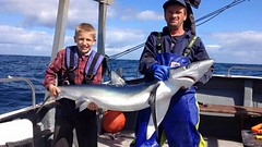 "Liam King with his Blue Shark • <a style=""font-size:0.8em;"" href=""http://www.flickr.com/photos/113772263@N05/20488115885/"" target=""_blank"">View on Flickr</a>"