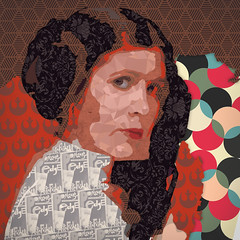 363 | 366 | V (Randomographer) Tags: project365 carrie frances fisher abstract portrait digital art pop culture icon actress writer producer humorist human woman princess leia star wars postcardsfromtheedge 363 366 v memorial graphic design