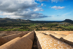 Amazing view from the roof of the church (Olga Vasiljeva) Tags: castle mallorca capdepera spain rooftop view valley mountains landscape
