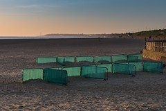 Defences (Number Johnny 5) Tags: tamron d750 2470mm east dawn empty mundane beach imanoot banal sunrise barrier deserted gorleston nikon anglia norfolk fence