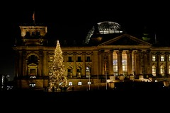 Berlin nights 2 (AlleyWarrior) Tags: ifttt 500px berlin night reichstag xmas tree christmas long exposure