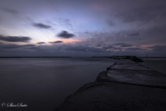 A moments sunset (shin4433) Tags: sea sky clouds sunset long exposure nikond5300