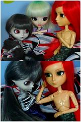 Até quando? (2/3) (BiassaurRex~☆) Tags: taeyang rayne nick rewigged pullip elisabeth mitsui obitsu27 obitsu clear tokidoki luna satsuki red redhead blond grey