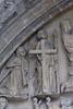 Saint Omer, Nord-Pas-de-Calais, Cathédrale Notre-Dame, south transept, entry, tympanum, detail (groenling) Tags: saintomer pasdecalais nordpasdecalais france fr cathédrale notredame transept south sud entry entrée portal portail stone carving stonecarving pierre tympan tympanum judgment jugement god dieu majesty majesté blessed béni grave tombe angel ange trumpet trompe trompette mmiia