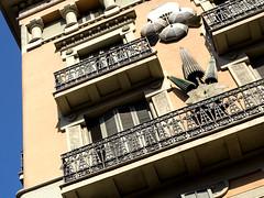 Parasols on a Wall (HelenBushe) Tags: umbrella shop barcelona casabrunocuadros lasramblas