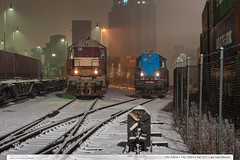 742.428-6 + 742.209-0 | trať 331 | Lípa nad Dřevnicí (jirka.zapalka) Tags: train trat331 cdcargo lipanaddrevnici metrans winter snow stanice rada742 czech