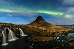 Kirkjufell. (Kjartan Guðmundur) Tags: iceland ísland mountain moonlight auroraborealis northernlights zorzapolarna polarlict nocturne nordlys canoneos5dmarkiv tokinaatx1628mmf28profx kjartanguðmundur arctic photoguide
