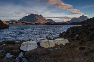 Boat Bay, Loch Sionascaig ..