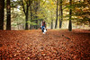 Chasing autumn (plant.wendy) Tags: dog bordercollie border collie me self portrait autumn leaves playing colors season fall yellow orange red green scarf jacket grey blackwhite happy happiness