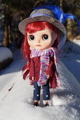 Poppy having fun in the snow