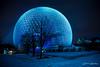 Week 3 - Artistic Land (Claude Lariviere) Tags: hiver nuit sphère bleu biosphere