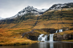 Kirkjufellsfoss (Pete Rowbottom, Wigan, UK) Tags: kirkjufellsfoss kirkjufell snæfellsnespeninsula snæfellsnes westiceland iceland icelandic landscape icelandlandscape waterfall falls water outdoor mountains snow snowy rugged rockyfalls slowshutterspeed slowshutter peterowbottom longexposure leefilters longexposurelandscape longexposurewater europe dramatic remote nikond750 wideangle grundarfjörður icelandkirkjufellsfoss winter cloudy stillwater serene peaceful beautiful snowymountains cascade highlands scandinavian snaefellsnesog hnappadalssysla grundarfjoerdur