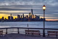 Before Sunrise (Lojones13) Tags: waterfront outside hudsonriver newyork river morning clouds skyline sky