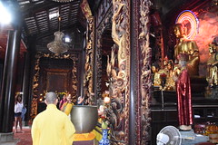 One of the monks was chanting while the other was beating the drum (shankar s.) Tags: southeastasia seasia vietnam saigon hochiminhcity hcm southvietnam mekongdeltavietnam tiềngiangprovince mytho vinhtrangpagoda religiousshrine placeofworship houseofprayer buddhism buddhistfaith taoism buddhisttemple templeinterior shrineinterior sanctum sanctumsantorum buddhastatue halo buddhaimage templedeity mainhall chanting
