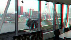 Uitzicht Maastorenflat  Rotterdam 3D (wim hoppenbrouwers) Tags: uitzichtmaastorenflat rotterdam3d uitzicht maastorenflat rotterdam 3d vasteland v8 architecten anaglyph stereo redcyan v8architecten wilhelminaplein zuid