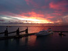 Sunset in Bridgetown pier (Kill yr idols) Tags: clouds nubes sky cielo sunset atardecer anochecer afternnon pomeriggio colores colors dusk horizonte horizon boat barco ship bridgetown barbados pier puerto