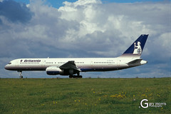 G-BYAN Boeing 757 204 (Gary J Morris) Tags: eggd brs by bal bristol airport lulsgate garymorris airlines boeing 757 27219 gbyan 204 britannia airways 30111994 airline