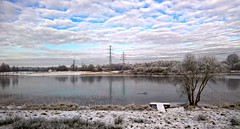 Assen - January 2017 (Kevin Millican) Tags: assen nl netherlands lake water frost snow winter annemillican lumia cameraphone lumia950 powerlines