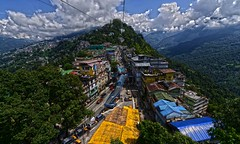 Gangtok Sikkim DSC_0537 (JKIESECKER) Tags: gangtoksikkim sikkimindia india aerialview aerialphotography citylife cityscenes landscapes mountains yellow blue green