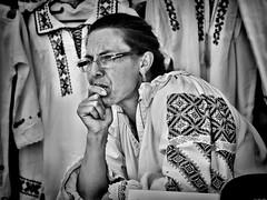 Ie (Constantin Florea) Tags: candid street outdoor portrait face streetphoto streetphotography blackwhite blackandwhite bw monochrome city urban people life capture lady woman girls canon romania ef24105mm canon6d