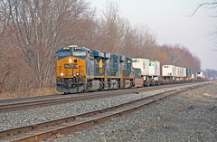 A Short One (craigsanders429) Tags: csx csxtrains csxeriewestsubdivision csx866 perryohio intermodaltrains csxintermodaltrains tracks railroadtracks csxmotivepower csxlocomotives
