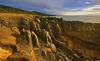 Pancake Rocks : Punakaiki (Clement Tang **busy**) Tags: travel newzealand summer evening eveningclouds sidelit hdr bluesky nature nationalgeographic concordians closetonature landscape limestonestacks grandemaregroup seascape scenicsnotjustlandscapes rockformation lensglare worldtrekker southisland