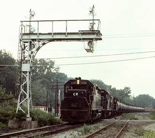 CR GP40 3118 eb CP17 Wayneport NY 7/77