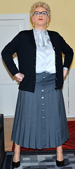 Ingrid019582 (ingrid_bach61) Tags: skirt mature button cardigan femdom pleated strickjacke governess faltenrock bowblouse schleifenbluse durchgeknpft