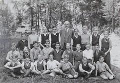 Norra ngby Folkskola, klass 7a, vrterminen 1938 (Olle Sundh) Tags: stockholm norra skola klass bromma svv skolfoto ngby folkskola skolbarn vultejusvgen