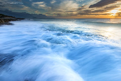 (nodie26) Tags: ocean sea color rock sunrise waterfall long tour slow taiwan flowing oceans  hualien            naturesfinest   eow        aplusphoto      stunningphotogpin