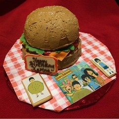 Bob's burgers cake by Kathy, Santa Cruz,CA, www.birthdaycakes4free.com