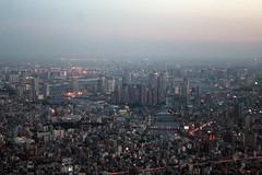 Tokyo - SkyTree (*maya*) Tags: city sunset panorama tower japan skyline night tokyo tramonto torre view skyscrapers bynight nightview notte giappone crepuscolo vertigini metropoli megalopoli altitudine skytree tokyoskytree
