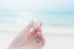 a shell (maaco) Tags: ocean sea me photoshop seaside sand nikon honeymoon hand shell sigma resort adobe fourseasons 1020mm maldives whitesand lightroom baaatoll luxuryresort d7000 landaagiraavaru fourseasonsresortmaldivesatlandaagiraavaru
