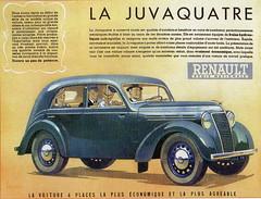 Renault Juvaquatre (1947) (andreboeni) Tags: classic car automobile cars automobiles voitures autos automobili classique voiture francais retro auto oldtimer klassik classico classica french publicity advert advertisement renault juva juvaquatre juva4 rnur