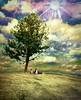 A Simpler Time (clabudak) Tags: tree meadow kids dog grass clouds sky sun sunbeams landscape colorful