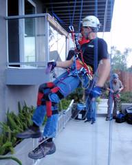 008 Daniel Tries The Tyrolean Traverse (saschmitz_earthlink_net) Tags: 2016 california southerncaliforniagrotto christmasparty losangelescounty baldwinhills windsorhills party climbing practice