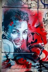 C215 : Sarah Ourahmoune (dprezat) Tags: c215 sarahourahmoune ourahmoune boxe paris street art graffiti tag fresque pochoir peinture aérosol bombe painting nikon nikond800 d800 christianguémy