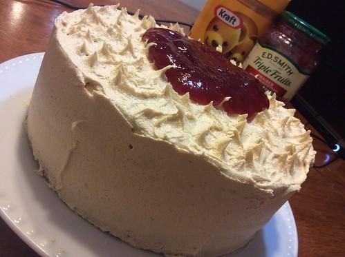 Peanut Butter & Jam Cake