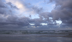 Sand meets Seas meets Clouds meets Sky (bobarcpics) Tags: queensland australianbeaches sand beach clouds