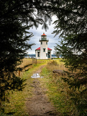 Lighthouse (Objects1000) Tags: lighthouse framed nikon shadows path artisitc tamron2470mm nikond750 light vashon washington unitedstates us