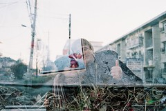 Come with me (Kana Sasamoto) Tags: photo photography film filmphotography filmisnotdead 35mm 35mmphotography 35mmfilm landscape streetphotography people couple portrait multipleexposures multipleexposure doubleexposure petal petals smile streetlife view photooftheday tokyo japan
