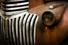 Years on the levee (hutchphotography2020) Tags: chevy rustedtruck chrome truckgrill headlight nikon hutchphotography