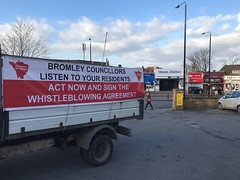 Backing Bromley Whistleblowers Campaign Tour Bus
