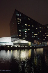 IMG50854a_C (Kernowfile) Tags: liverpool waterfront night lights reflections water buildings canningdock offices mannisland pentax