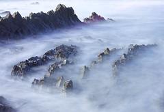 Wade into the water (pauldunn52) Tags: water sea long exposure ridges rock beach cornwall widemouth bay