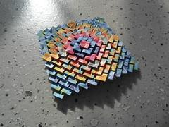diagonal clover, front (Dasssa) Tags: origami tessellation paper square shuzo fujimoto clover diagonal juliapaper