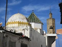 Mosque and minaret skyline, Rue Sidi Fateh, medina of Rabat, Morocco (Paul McClure DC) Tags: rabat morocco almaghrib jan2017 medina historic architecture minaret